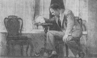 Сцена из  спектакля «Платон Кречет». МХАТ. 1935