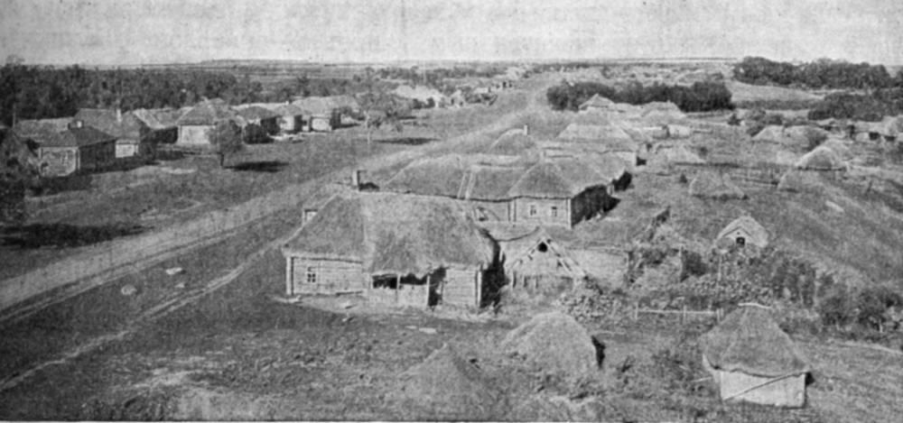 ТАРХАНЫ. ОБЩИЙ ВИД СЕЛА. Фотография В.Чудинова, 1937г.