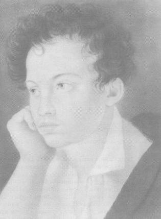 А. С. Пушкин. Акварель С. Г. Чирикова. 1810-е годы.