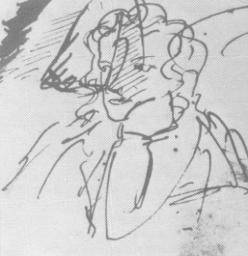 А. С. Пушкин. Автопортрет. (ПД, № 46, л. 15).