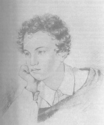 А. С. Пушкин. Рисунок для гравюры Гейтмана. 1822 г.